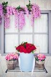 Έννοια σύνθεσης λουλουδιών Στοκ Εικόνες