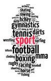 Έννοια σύννεφων αθλητικής λέξης Στοκ Εικόνες