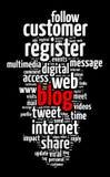 Έννοια σύννεφων λέξης Blog Στοκ εικόνες με δικαίωμα ελεύθερης χρήσης