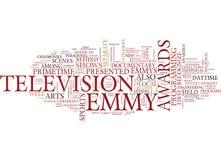 Έννοια σύννεφων του Word υποβάθρου κειμένων βραβείο Emmy Στοκ Εικόνες