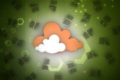 Έννοια σύννεφων Στοκ εικόνες με δικαίωμα ελεύθερης χρήσης