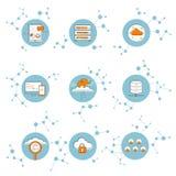 Έννοια σύνδεσης δικτύων εικονιδίων Στοκ εικόνα με δικαίωμα ελεύθερης χρήσης