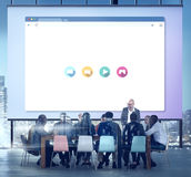 Έννοια σύνδεσης στο Διαδίκτυο βελτιστοποίησης μηχανών αναζήτησης Στοκ Εικόνα