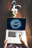 Έννοια σύνδεσης τεχνολογίας πληροφοριών υπολογιστών Στοκ φωτογραφία με δικαίωμα ελεύθερης χρήσης