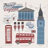 Έννοια ταξιδιού της Αγγλίας απεικόνιση αποθεμάτων