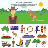 Έννοια ταξιδιού της Αυστραλίας ελεύθερη απεικόνιση δικαιώματος