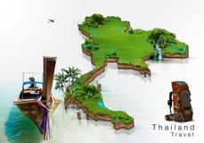 Έννοια ταξιδιού της Ταϊλάνδης ελεύθερη απεικόνιση δικαιώματος