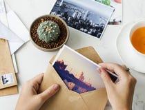 Έννοια ταξιδιού φωτογραφιών προορισμού ταχυδρομείου Στοκ φωτογραφία με δικαίωμα ελεύθερης χρήσης