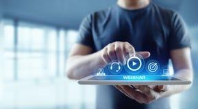 Έννοια τεχνολογίας επιχειρησιακού Διαδικτύου κατάρτισης ε-εκμάθησης Webinar στοκ εικόνα