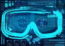 Έννοια τεχνολογίας με Hud, στοιχεία σχεδίου Gui Head-up Displa διανυσματική απεικόνιση