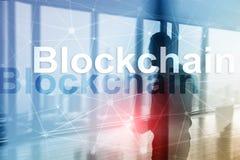 Έννοια τεχνολογίας Blockchain στο υπόβαθρο κεντρικών υπολογιστών Κρυπτογράφηση στοιχείων στοκ εικόνες με δικαίωμα ελεύθερης χρήσης