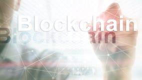 Έννοια τεχνολογίας Blockchain στο υπόβαθρο κεντρικών υπολογιστών Κρυπτογράφηση στοιχείων στοκ φωτογραφία με δικαίωμα ελεύθερης χρήσης