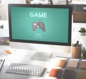 Έννοια τεχνολογίας ελεύθερου χρόνου χόμπι διασκέδασης τυχερού παιχνιδιού παιχνιδιών Στοκ Εικόνα