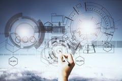 Έννοια τεχνολογίας, μέλλοντος και επικοινωνίας Στοκ εικόνα με δικαίωμα ελεύθερης χρήσης