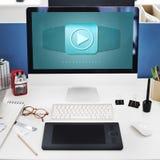 Έννοια τεχνολογίας λογισμικού εικονιδίων προγράμματος εφαρμογής Στοκ εικόνες με δικαίωμα ελεύθερης χρήσης