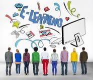 Έννοια τεχνολογίας παγκόσμιων επικοινωνιών εκπαίδευσης ε-εκμάθησης Στοκ εικόνα με δικαίωμα ελεύθερης χρήσης