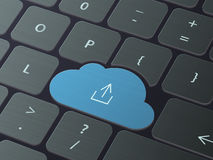 Έννοια τεχνολογίας σύννεφων Στοκ φωτογραφίες με δικαίωμα ελεύθερης χρήσης