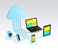 Έννοια τεχνολογίας υπολογισμού σύννεφων υγειονομικής περίθαλψης Στοκ Φωτογραφίες