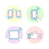 Έννοια τεχνολογίας NFC διανυσματική απεικόνιση