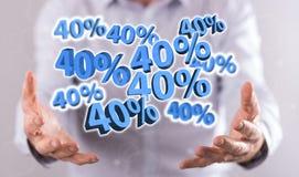 Έννοια της έκπτωσης 40% Στοκ φωτογραφίες με δικαίωμα ελεύθερης χρήσης