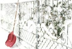 Έννοια της αφαίρεσης του χιονιού Στοκ εικόνα με δικαίωμα ελεύθερης χρήσης