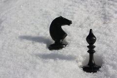 Έννοια της διανοητικής μάχης σκάκι δύο Στοκ Φωτογραφία