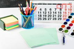 Έννοια της εκπαίδευσης, ο πρώτος του Σεπτεμβρίου ή πίσω στο σχολείο Στοκ Εικόνες