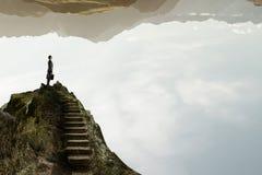 Έννοια της επιτυχίας και της επίτευξης του στόχου σας Μικτά μέσα Στοκ φωτογραφία με δικαίωμα ελεύθερης χρήσης