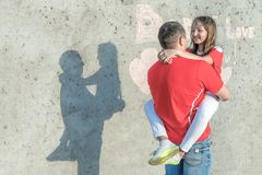 Έννοια της ευτυχούς ημέρας πατέρων στοκ εικόνες