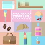 Έννοια της ζωής γυναικών ` s Στοκ φωτογραφία με δικαίωμα ελεύθερης χρήσης