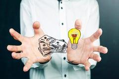 Έννοια της ιδέας και της επιτυχίας Στοκ Εικόνα