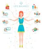 Έννοια της ισορροπίας εργασίας και ζωής ελεύθερη απεικόνιση δικαιώματος