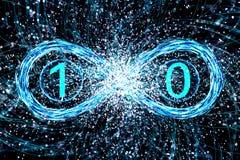 Έννοια της κβαντικής δυαδικότητας φυσικής ενός φωτονίου στοκ φωτογραφίες με δικαίωμα ελεύθερης χρήσης