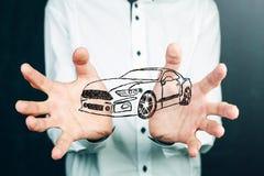 Έννοια της μεταφοράς αυτοκινήτων Στοκ φωτογραφία με δικαίωμα ελεύθερης χρήσης