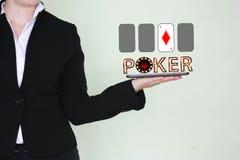 Έννοια της νίκης μιας κάρτας πόκερ στοκ εικόνες με δικαίωμα ελεύθερης χρήσης