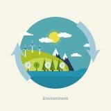 Έννοια της πράσινης ενέργειας Στοκ Εικόνα
