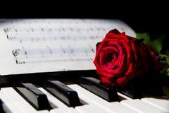 Έννοια της ρομαντικής μουσικής στοκ εικόνα