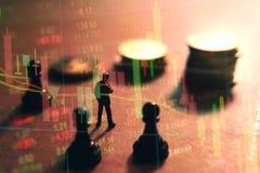 Έννοια της στρατηγικής χρηματιστηρίου Στοκ Εικόνες