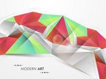 Έννοια της σύγχρονης τέχνης για τον επιχειρησιακό σκοπό Στοκ Εικόνα