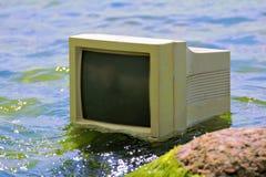 Έννοια της τεχνολογίας υπολογιστών και του ωκεανού Στοκ φωτογραφία με δικαίωμα ελεύθερης χρήσης