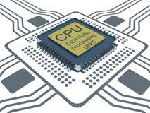 Έννοια της τεχνολογίας background.CPU Στοκ φωτογραφίες με δικαίωμα ελεύθερης χρήσης
