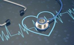 Έννοια της υγείας καρδιών Στοκ φωτογραφία με δικαίωμα ελεύθερης χρήσης