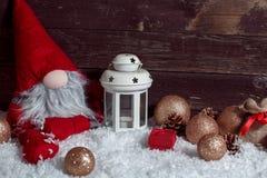 Έννοια της Χαρούμενα Χριστούγεννας και καλές διακοπές με το διάστημα αντιγράφων Στοκ Φωτογραφία