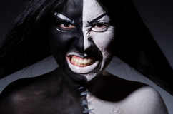 Έννοια της Satan αποκριές Στοκ εικόνες με δικαίωμα ελεύθερης χρήσης