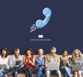 Έννοια τηλεφωνικής συνομιλίας τηλεφωνικής επικοινωνίας κλήσης Στοκ φωτογραφίες με δικαίωμα ελεύθερης χρήσης