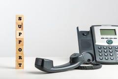 Έννοια τηλεφωνικής υποστήριξης Στοκ φωτογραφία με δικαίωμα ελεύθερης χρήσης