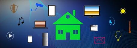 Έννοια του έξυπνου σπιτιού απεικόνιση αποθεμάτων