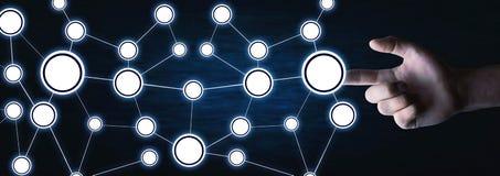 Έννοια του δικτύου Επικοινωνία Διαδικτύου στοκ εικόνα