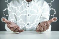 Έννοια του δικτύου Επικοινωνία Διαδικτύου στοκ εικόνες