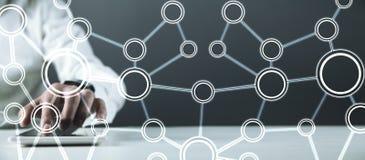 Έννοια του δικτύου Επικοινωνία Διαδικτύου στοκ εικόνα με δικαίωμα ελεύθερης χρήσης